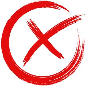 Rotes X, welches die Nachteile von Wassersprudlern zum Drinkmate kennzeichnet